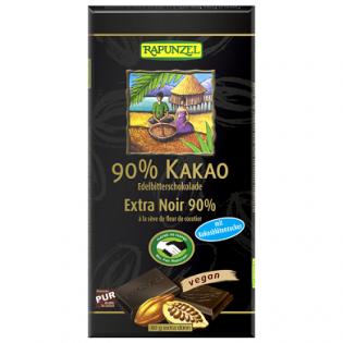 Rapunzel Σοκολάτα Μαύρη 90% Με Ζάχαρη Καρύδας 100gr BIO