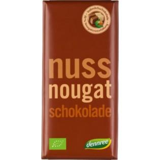 Dennree Σοκολάτα Γάλακτος Nougat 100gr