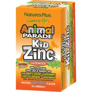 Nature's Plus Animal Parade KidZinc 90 παστίλιες Μανταρίνι