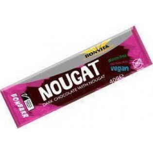 Bonvita Μπάρα Vegan Μαύρη Σοκολάτα Nugat 40gr Χωρίς Γλουτένη