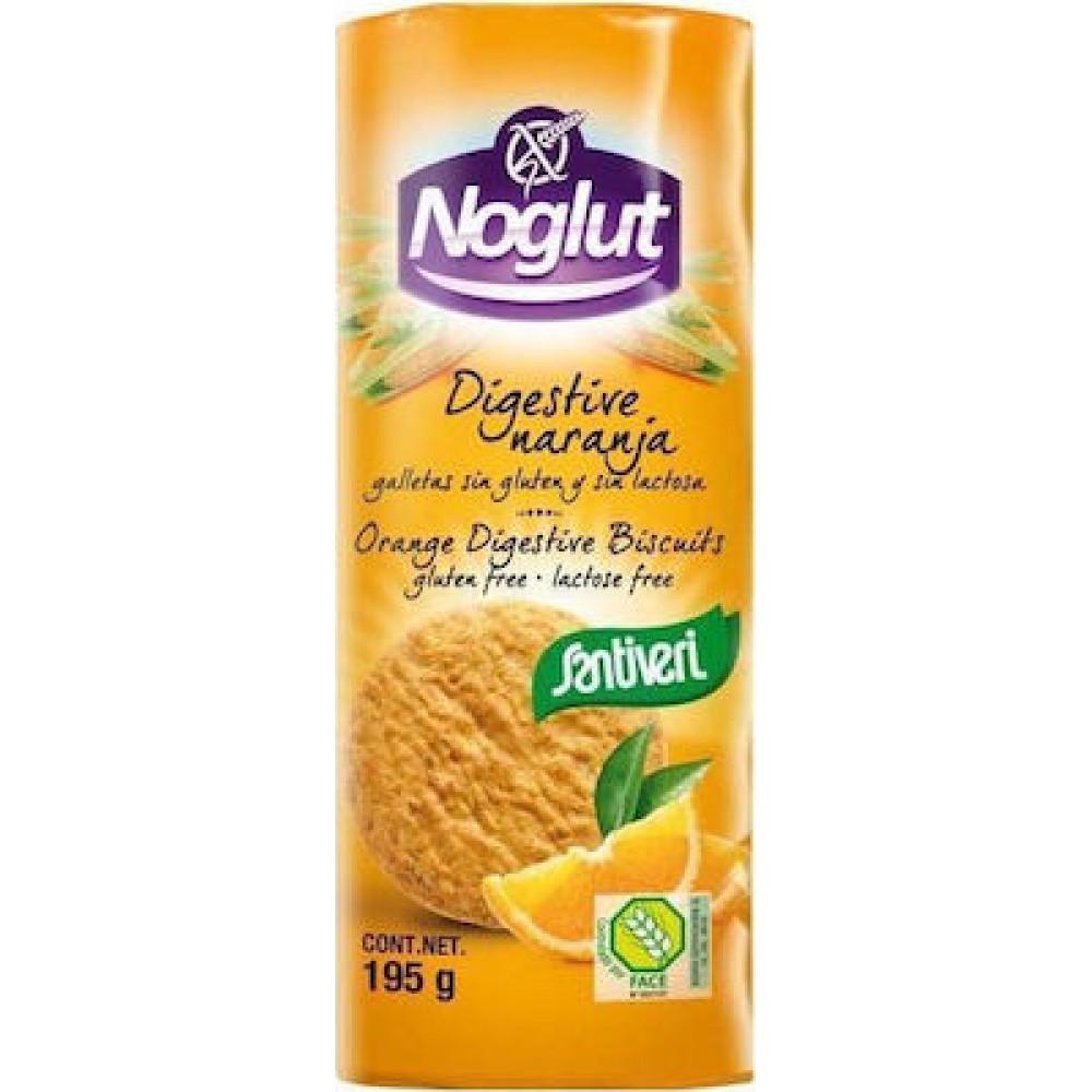 Santiveri Μπισκότα Digestive Πορτοκάλι Χωρίς Γλουτένη 195gr