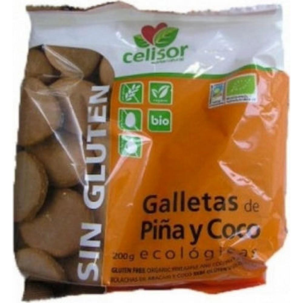 Soria Natural Βιολογικά Μπισκότα Καρύδας & Ανανά Χωρίς Γλουτένη 200gr