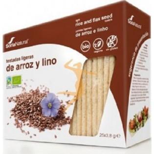 Soria Natural Κράκερ Ρυζιού-Λιναρόσπορου Χωρίς Γλουτένη 95gr